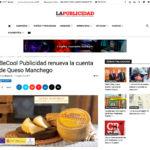 Repercusión en los medios de la renovación de la cuenta de Queso Manchego, por BeCool Publicidad